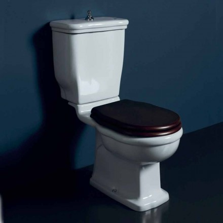 Vaso-delige toilet in wit keramiek Style 72x36 cm, made in Italy