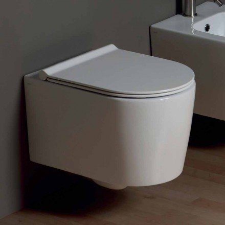Pot hing toilet in modern design Shine plein keramiek, gemaakt in Italië