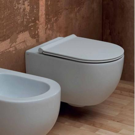 Muur hing toilet in modern design keramiek Star 55x35 Made in Italy