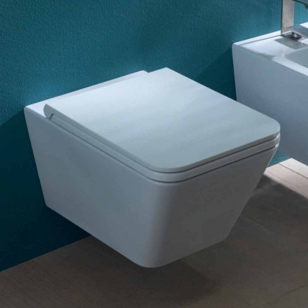 Keramische vaas hangend toilet, modern design, Sun Square made in Italy