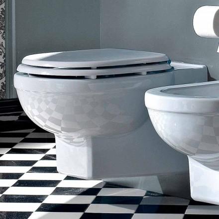WC geschorste vaas klassieke stijl in wit keramiek Made in Italy - Marwa