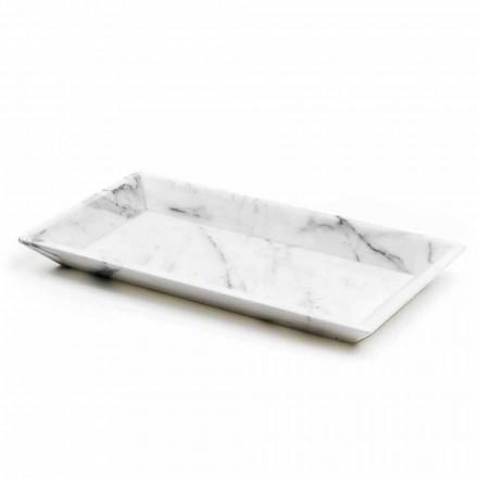 Rechthoekig dienblad in wit Carrara-marmer gemaakt in Italië - Vassili