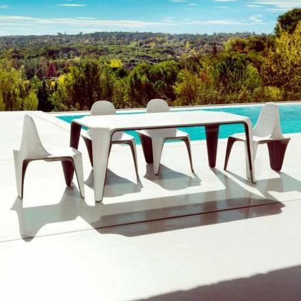 Vondom F3 tuintafel L190xP90cm in polyethyleen, modern design