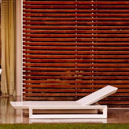 Design tuinbed van Vondom-frame in wit polyethyleen
