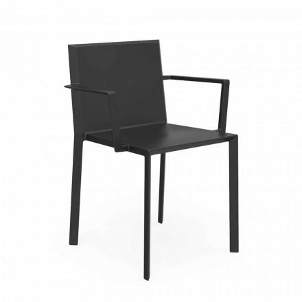 Vondom Quartz-stoel met design tuinarmleuningen, L52xD57xH79cm