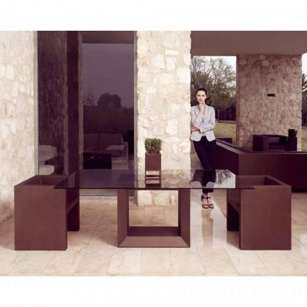 Vondom Vela moderne design tuinzetel, bronzen afwerking